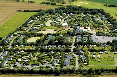 Luchtfoto Camping Port'land, Normandië