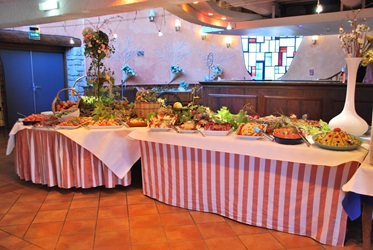 Dinerbuffet, Hotel Castel Luberon, Provence