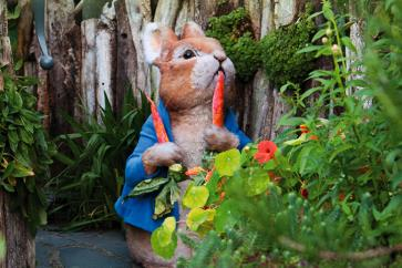 Pieter Konijn in het World of Beatrix Potter in Lake District