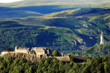 Stirling Castle en het William Wallace monument, Schotland
