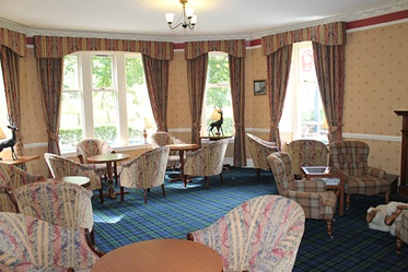Lounge in Loch Kinord Hotel, Royal Deeside, Schotland