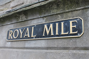 De Royal Mile in Edinburgh, Schotland