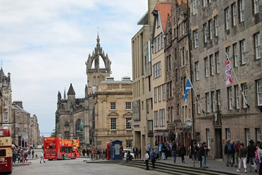 Royal Mile in Edinburgh, Schotland