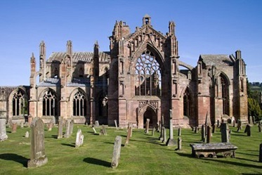 Melrose Abbey in de Scottish Borders