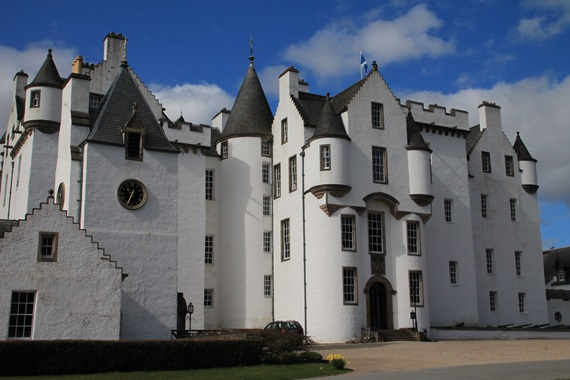 Blair Castle bij Pitlochry in Schotland