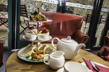High Tea, The Farmhouse at Bodnant, Tal-y-Cafn, Wales