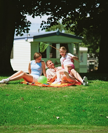 Driekamerstacaravan type Deluxe, Burnham-on-Sea Vakantiepark