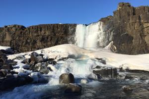 Oxararfoss, Thingvellir National Park, IJsland