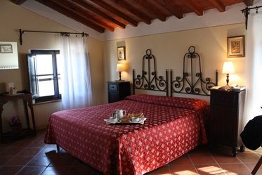 Tweepersoonskamer, Hotel Pieve A Salti, Buonconvento, Toscane